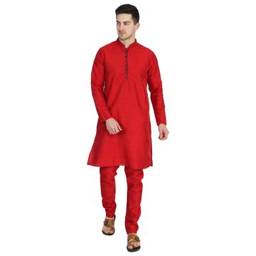TAHVO | TAHVO men solid red kurta with churidar