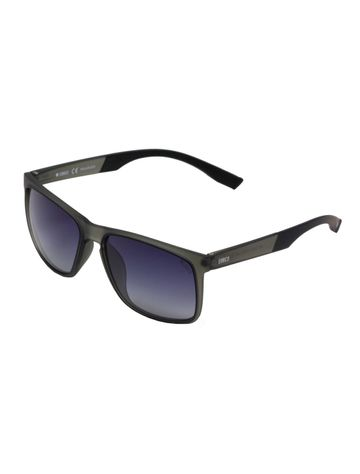 ENRICO | ENRICO Mojo Jojo UV Protected & Polarized Unisex Wayfarer Sunglasses ( Lens - Blue | Frame - Grey)