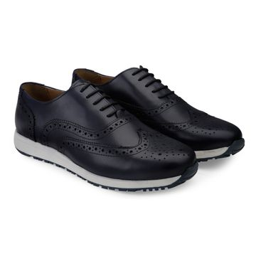 Hats Off Accessories | Hats Off Accessories Genuine Leather Navy Wingtip Sneakers