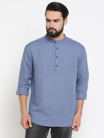 Showoff | Showoff Men's Linen Solid Slim Casual Kurtas