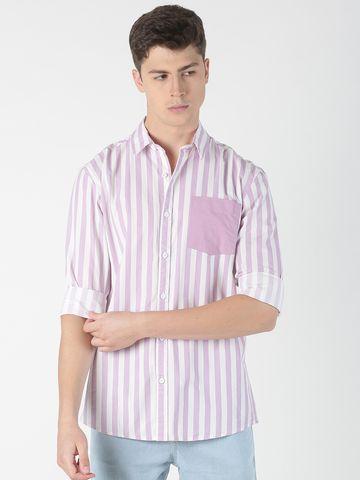 Blue Saint   Blue Saint Men's Striped Purple Shirt