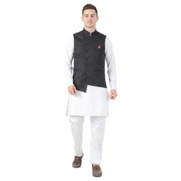 TAHVO | TAHVO mens nehru jacket with hanky kurta payjama 3 piece set