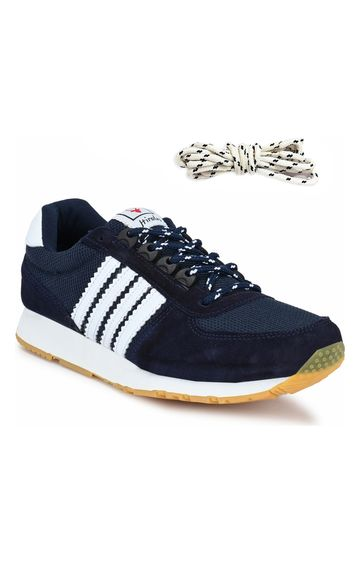 Hirolas | Hirolas Leather Multi Sport Shock Absorbing Walking  Running Fitness Athletic Training Gym Fashion Sneaker Shoes - Blue