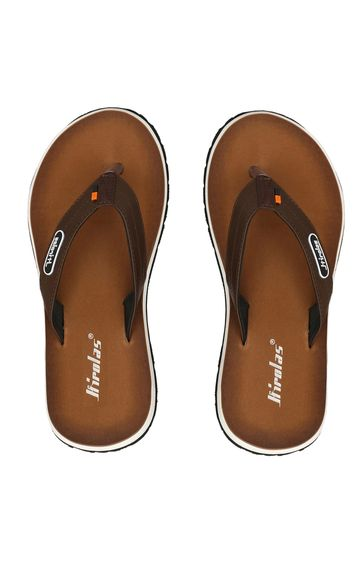 Hirolas | Hirolas Brown Fabrication Flip-Flops