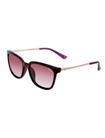 ENRICO | ENRICO Honey Dew Polycarbonate UV Protected Wayfarer Shape Sunglasses for Women ( Lens - Pink | Frame - Pink)