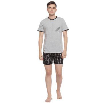 La Intimo   Feather Free Comfy Boxer TShirt Set