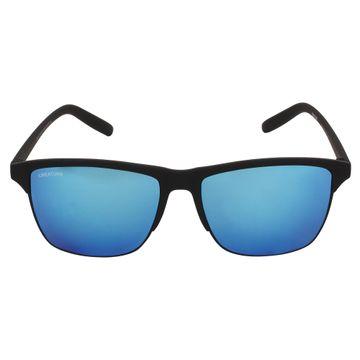 CREATURE | CREATURE Black Sunglasses with UV Protection (Lens-Purple & Blue|Frame-Black)