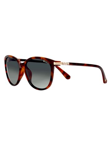 ENRICO | ENRICO Hawaii Polycarbonate UV Protected & Polarized Butterfly Shape Sunglasses for Women ( Lens - Black | Frame - Brown)