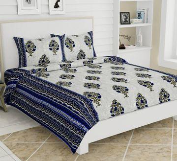 Pinkblock.in | Blue Cotton Jackpot Bedsheet