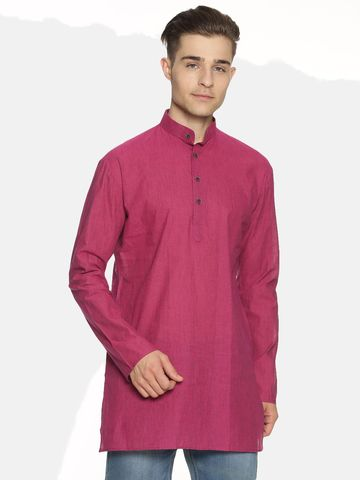 Jansons | Jansons Men's Solid Rose Ethnic Kurta