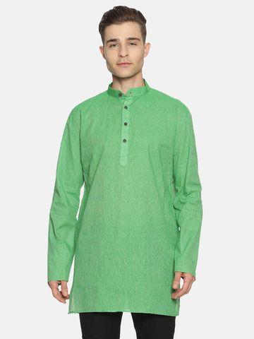 Jansons | Jansons Men's Solid Brighter Green Ethnic Kurta