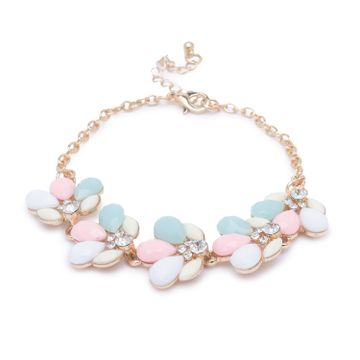 globus | Globus Gold and Pink and Mint Clasp Bracelet