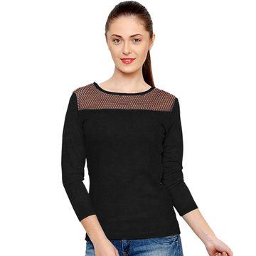 POONAM TEXTILE | Captivating Black Casual Wear T-Shirt