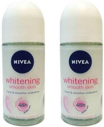Nivea | NIVEA whitening Deodorant Roll-on - For Men & Women  (50mlx2, 100 ml, Pack of 2)