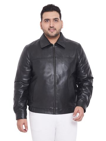 Justanned | JUSTANNED MEN'S PLUS SIZE JGENUINE REAL LEATHER JACKET