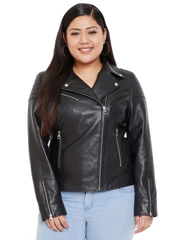 Justanned | JUSTANNED WOMEN BLACK GENUINE REAL LEATHER JACKET