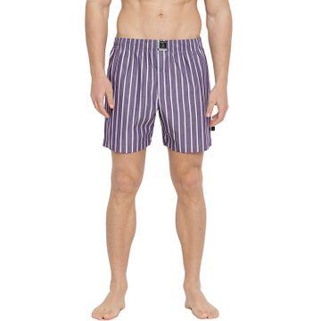 La Intimo | Classy Boxers (Purple with White stripes)