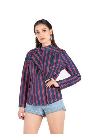 EUDORA CUT | Red Suede Strip Jacket