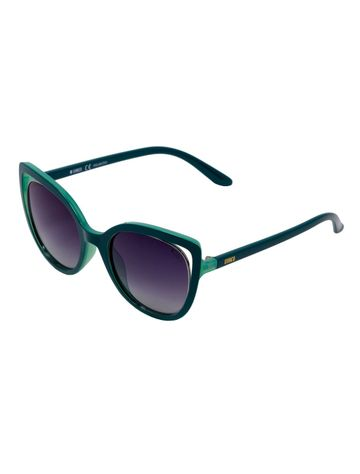 ENRICO | ENRICO Rarity Rainbow UV Protected & Polarized Cateye Sunglasses for Women ( Lens - Purple | Frame - Green)