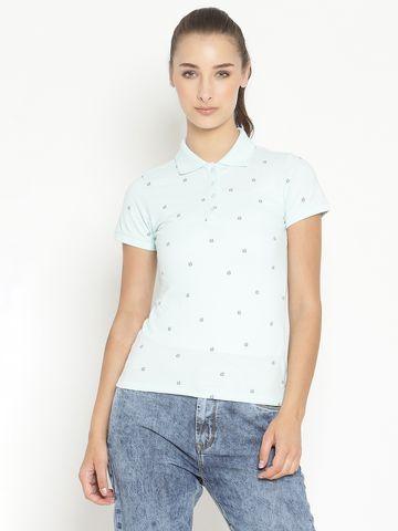 METTLE | Women PASTEL AQUA T-Shirts