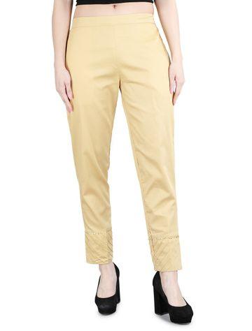 DEVS AND DIVAS | DEVS AND DIVAS Golden Ethnic Pant Trouser For Women