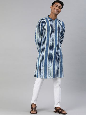 The Bear House | Men's Cut- Butta Organic Indigo Kurta