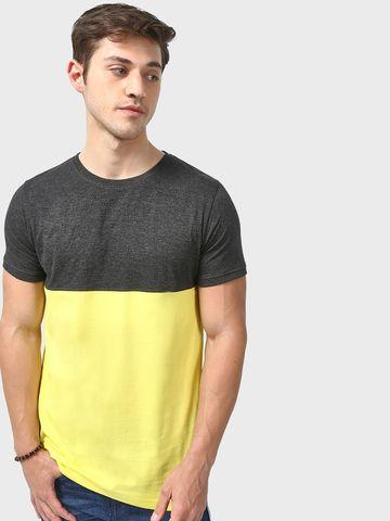 Blue Saint | Blue Saint Men's Yellow Skinny Fit T-shirts