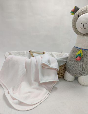 Mothercare   Shooting Star Fleece Baby Blanket Light Pink