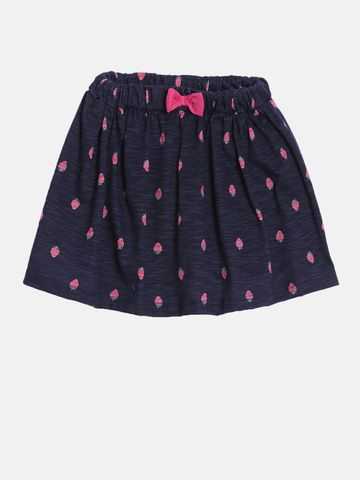 Kryptic | Kryptic girls 100% Cotton printed skirt with shorts
