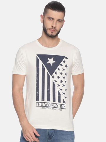 Kryptic | Kryptic Men's Flag printed round neck tshirt