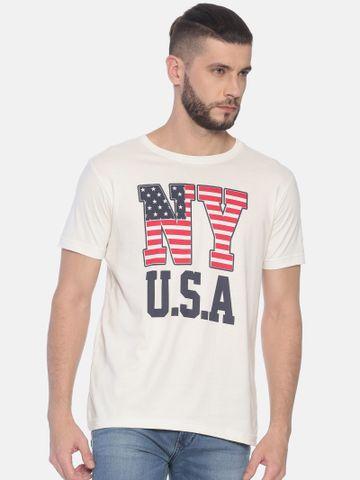 Kryptic | Kryptic Men's NY USA printed round neck tshirt