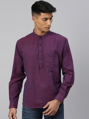 Kryptic | Kryptic Mens 100% Cotton Short kurta