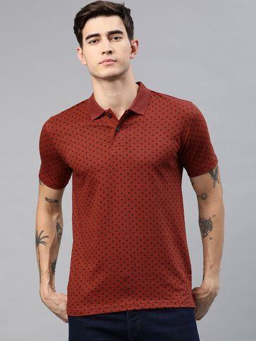 Kryptic   Kryptic Men Casual Cotton Printed  Polo Tshirts