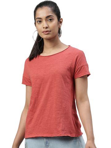 Kryptic | Kryptic womens 100% Cotton solid tshirt