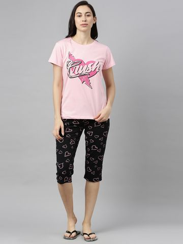 Kryptic | Kryptic womens 100% Cotton printed capri set
