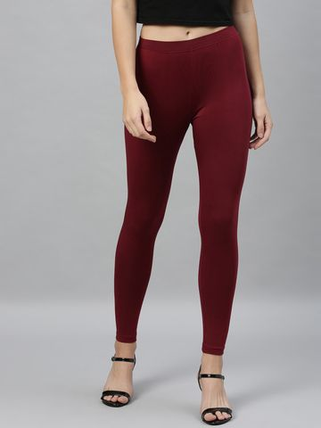 Kryptic | Kryptic womens cotton stretch solid ankle length legging