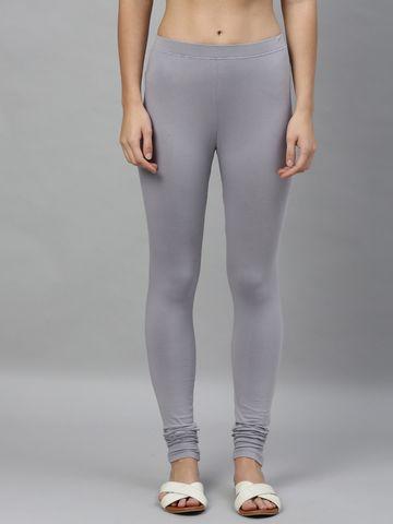 Kryptic   Kryptic womens cotton stretch solid Churidhar length legging