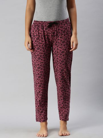 Kryptic | Kryptic Womens 100% Cotton printed lounge pant