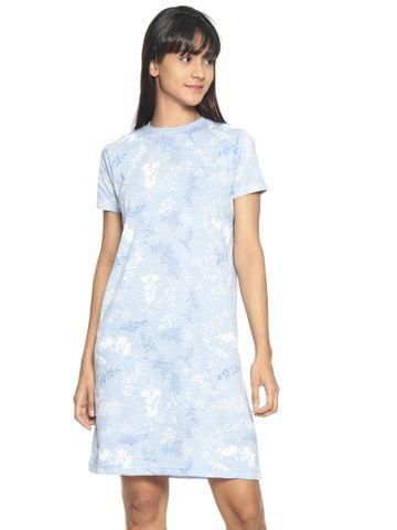 Kryptic | Kryptic Womens 100% cotton printed nightdress