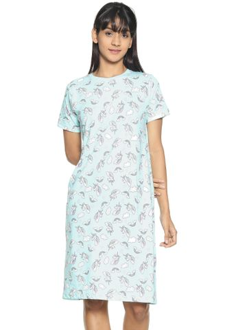 Kryptic | Kryptic Womens 100% cotton printed nightdress