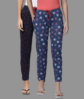 Kryptic | Kryptic Womens Cotton Blue/Navy Combo Pyjamas