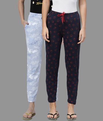 Kryptic | Kryptic Womens Cotton Navy/Blue Combo Pyjamas
