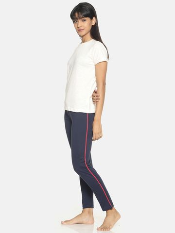 Kryptic   Kryptic Womens 100% cotton printed nightsuit with all over printed Tshirt and stylised solid bottom