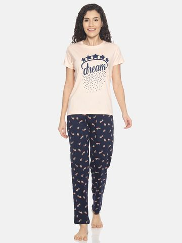 Kryptic | Kryptic Womens 100% cotton printed nightsuit