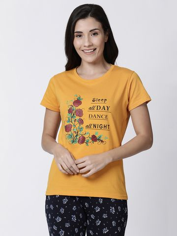 Kryptic | Kryptic womens Floral printed tshirt