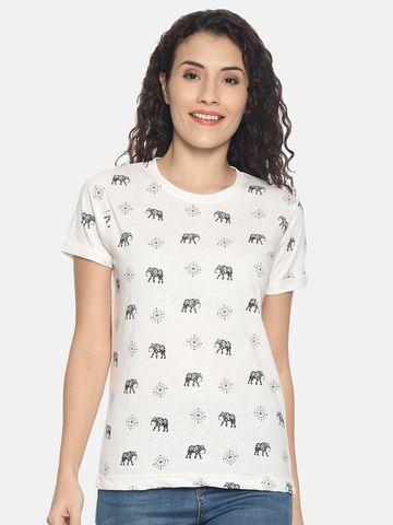 Kryptic | Kryptic Womens 100%cotton printed Tshirt