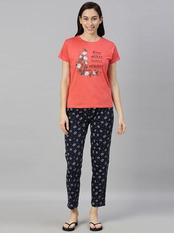 Kryptic   Kryptic womens 100% Cotton printed night suit