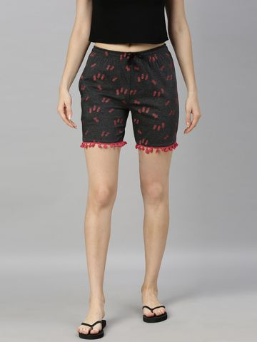 Kryptic | Kryptic womens Cotton rich printed shorts