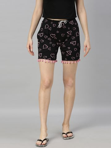 Kryptic | Kryptic womens 100% Cotton printed shorts