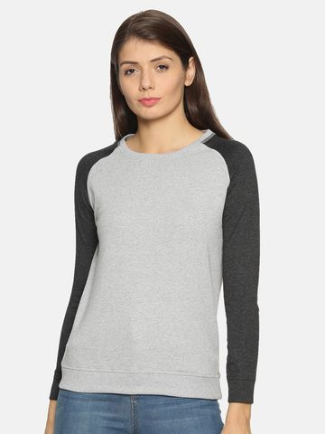 Kryptic | Kryptic Womens solid colourblock sweatshirt